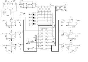 Схема конвертора DMX-512 в 6 каналов 0-10 Вольт